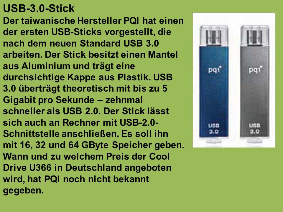 USB-3.0-Stick Der taiwanische Hersteller PQI hat einen