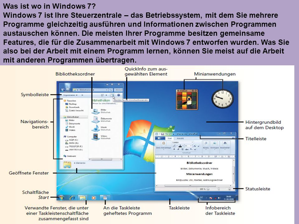 Was ist wo in Windows 7