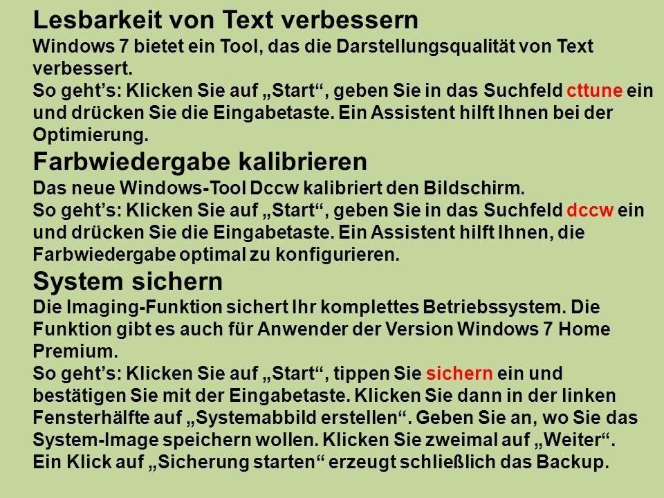 Lesbarkeit von Text verbessern