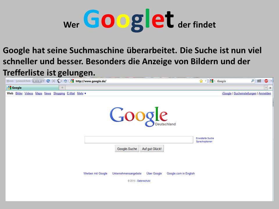 Wer Googlet der findet