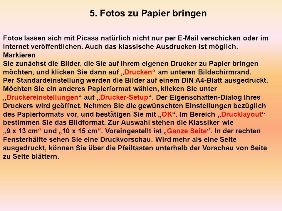 5. Fotos zu Papier bringen