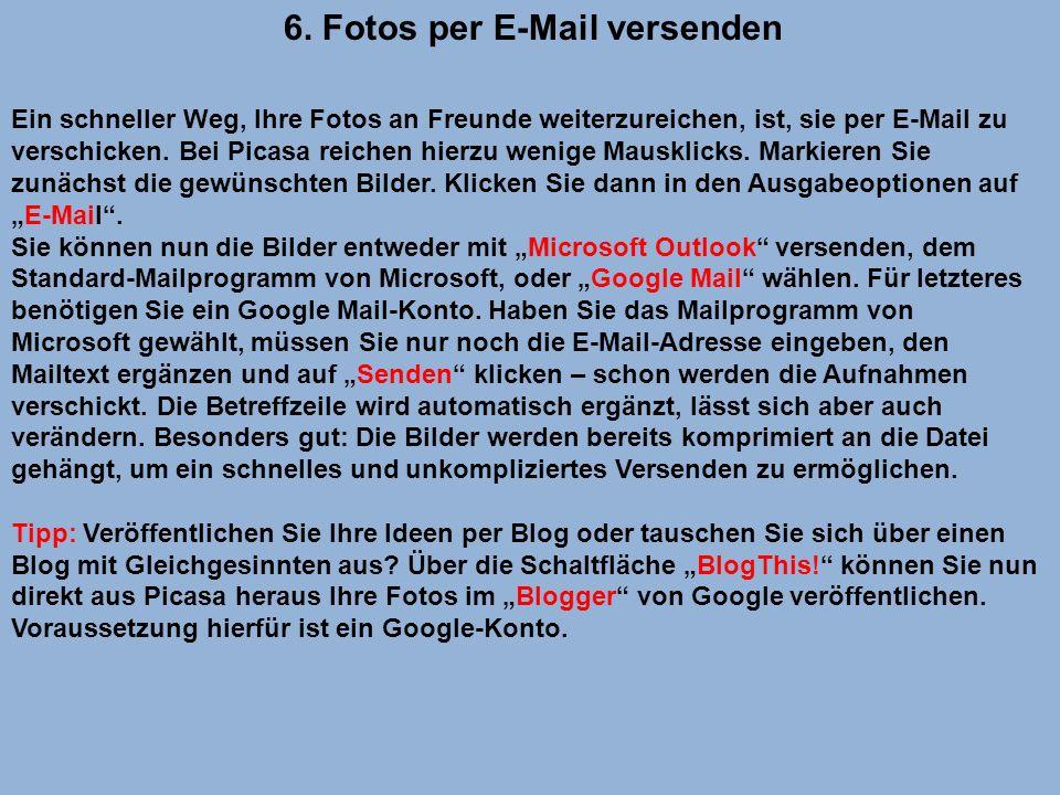 6. Fotos per E-Mail versenden