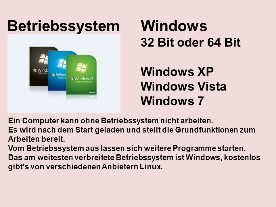 Betriebssystem Windows