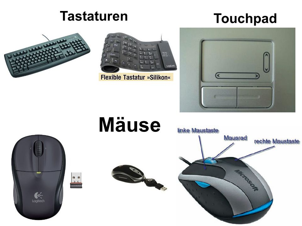 Tastaturen Touchpad Mäuse