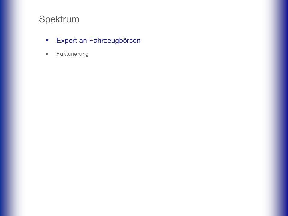 Export an Fahrzeugbörsen