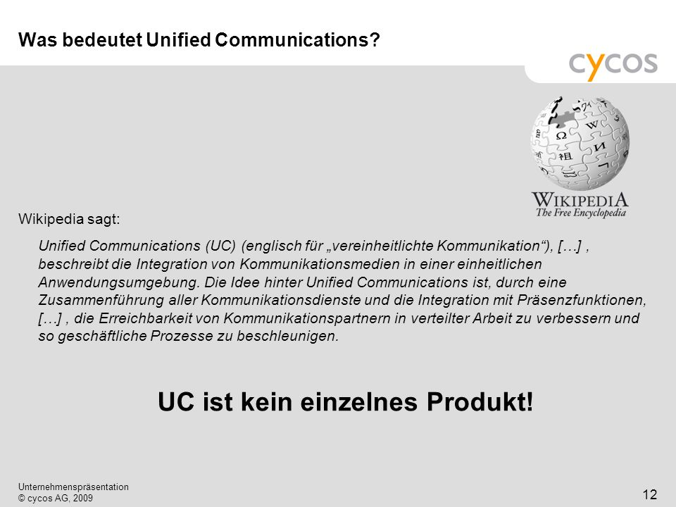 Was bedeutet Unified Communications