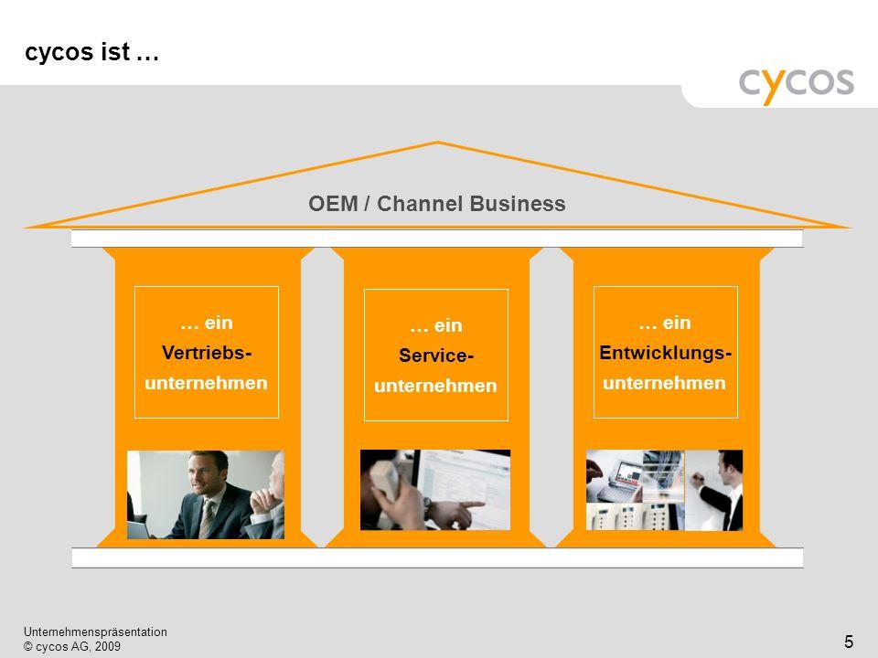 cycos ist … OEM / Channel Business … ein Vertriebs- unternehmen … ein