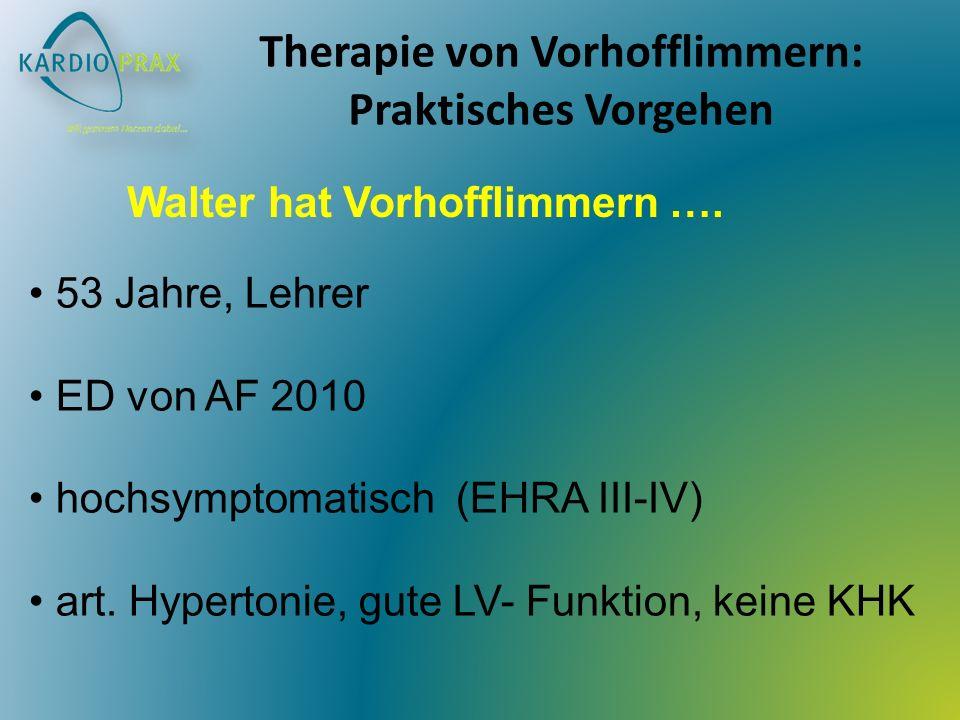 Therapie von Vorhofflimmern: Praktisches Vorgehen