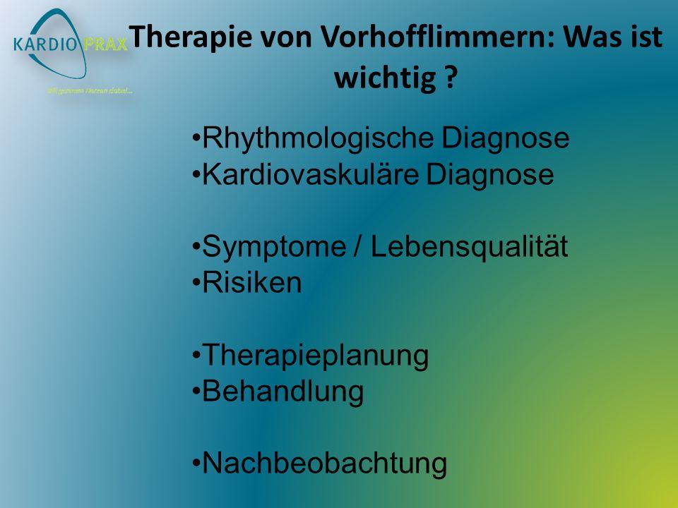 Therapie von Vorhofflimmern: Was ist wichtig