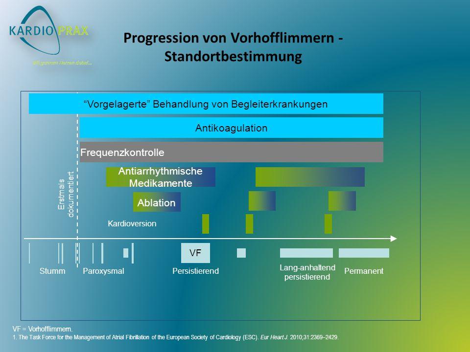 Progression von Vorhofflimmern - Standortbestimmung