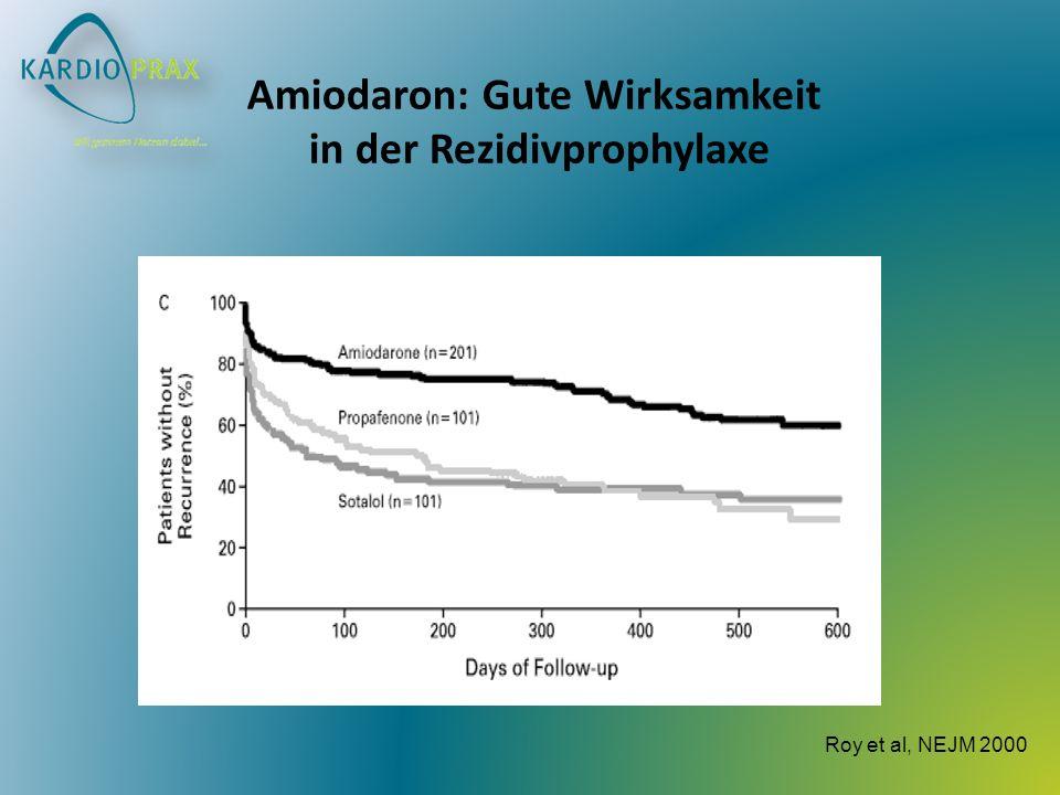 Amiodaron: Gute Wirksamkeit in der Rezidivprophylaxe