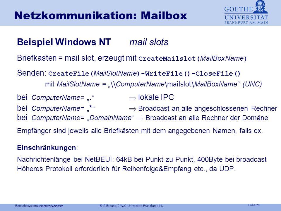Netzkommunikation: Mailbox