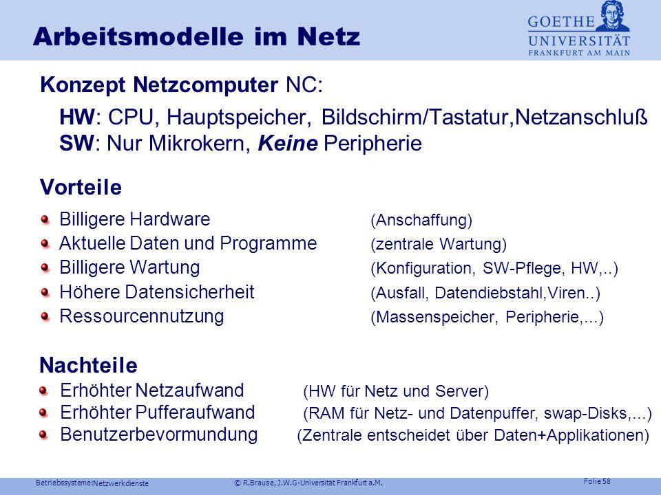 Arbeitsmodelle im Netz
