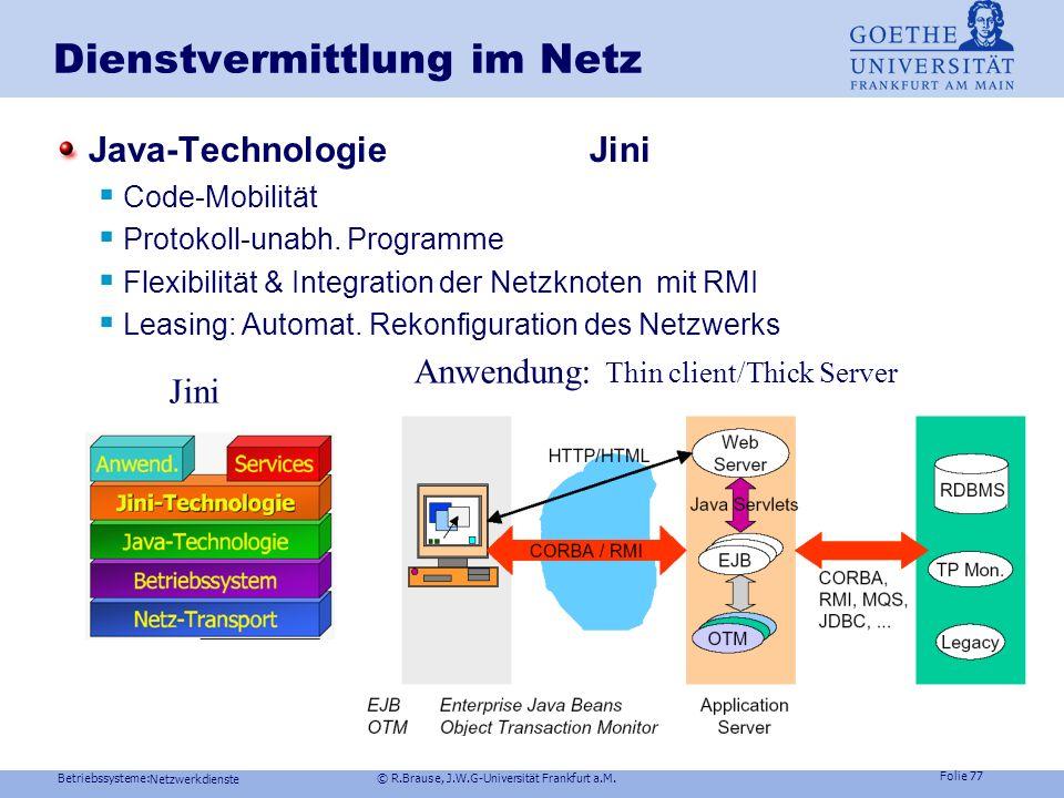 Dienstvermittlung im Netz