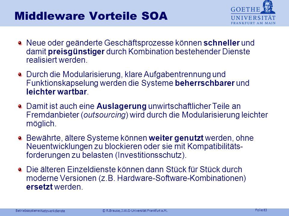 Middleware Vorteile SOA