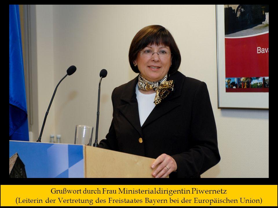 Grußwort durch Frau Ministerialdirigentin Piwernetz