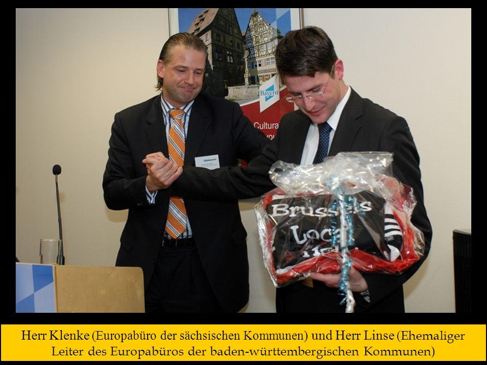 Herr Klenke (Europabüro der sächsischen Kommunen) und Herr Linse (Ehemaliger Leiter des Europabüros der baden-württembergischen Kommunen)