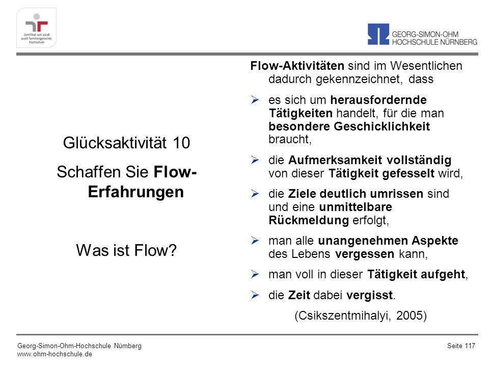 Glücksaktivität 10 Schaffen Sie Flow-Erfahrungen Was ist Flow