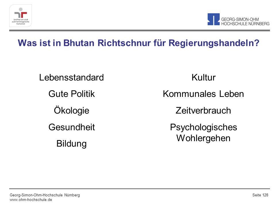 Was ist in Bhutan Richtschnur für Regierungshandeln