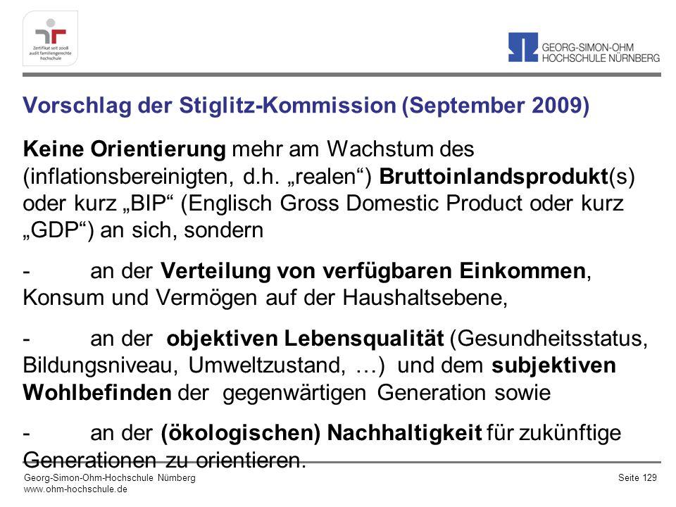 Vorschlag der Stiglitz-Kommission (September 2009)