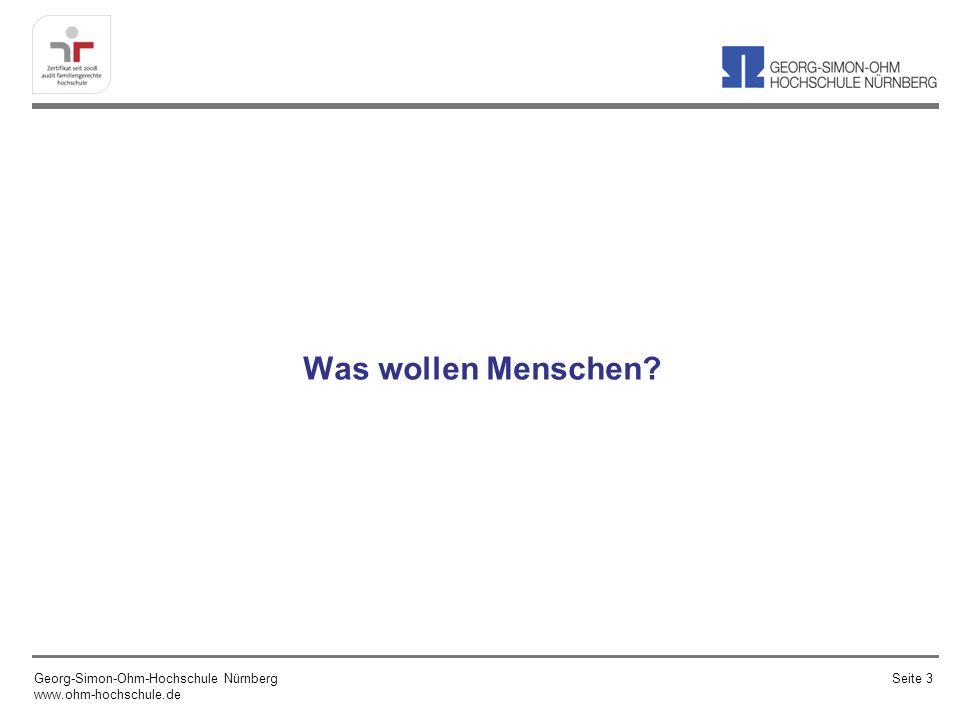 Was wollen Menschen Georg-Simon-Ohm-Hochschule Nürnberg