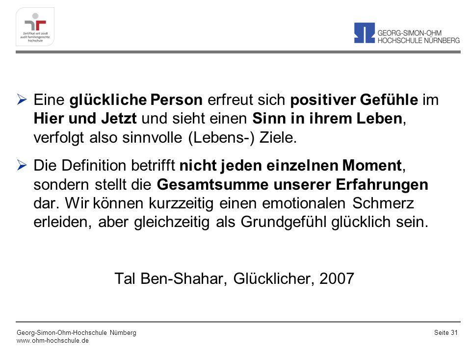 Tal Ben-Shahar, Glücklicher, 2007