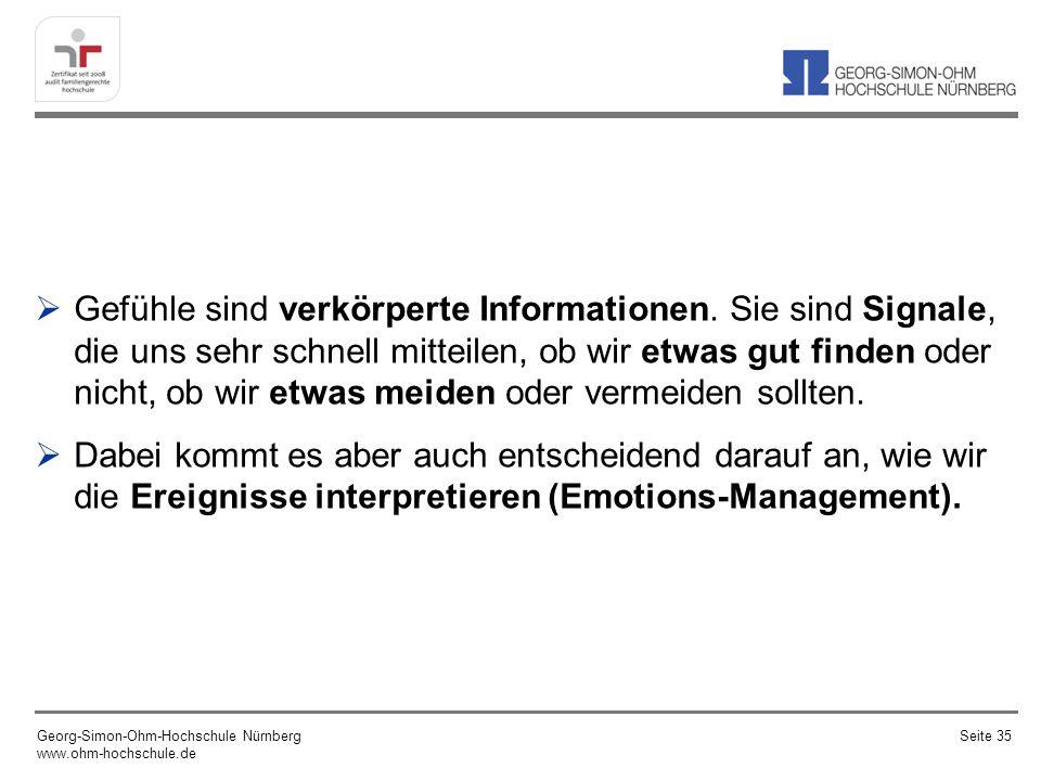 Gefühle sind verkörperte Informationen