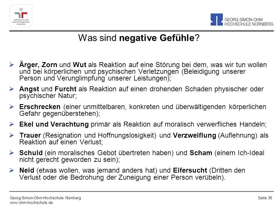 Was sind negative Gefühle