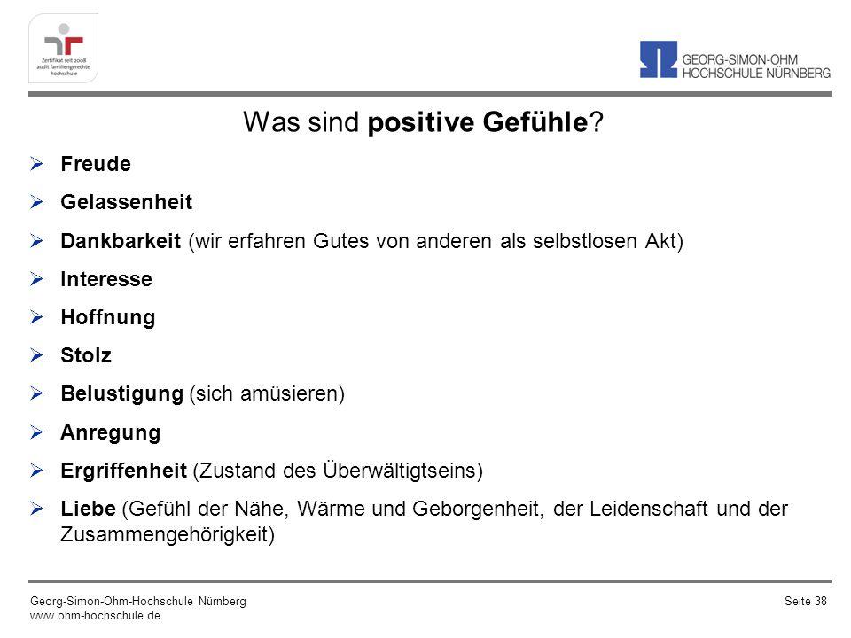Was sind positive Gefühle