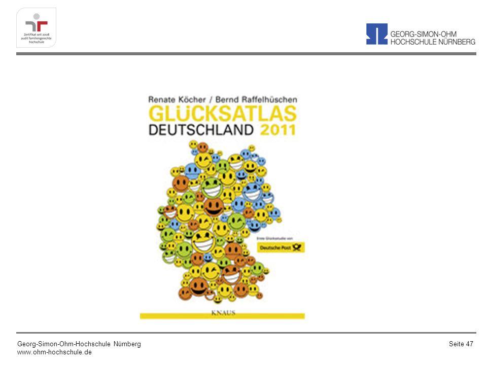Diese Woche wurde der Glücksatlas Deutschland 2011, der u