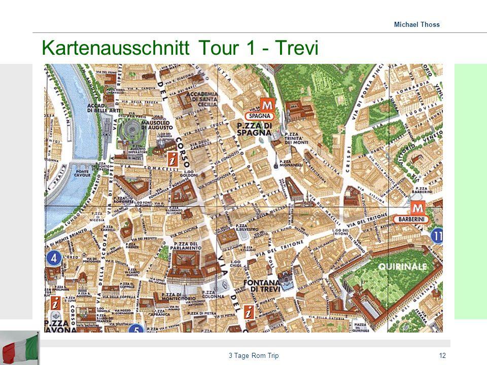 Kartenausschnitt Tour 1 - Trevi