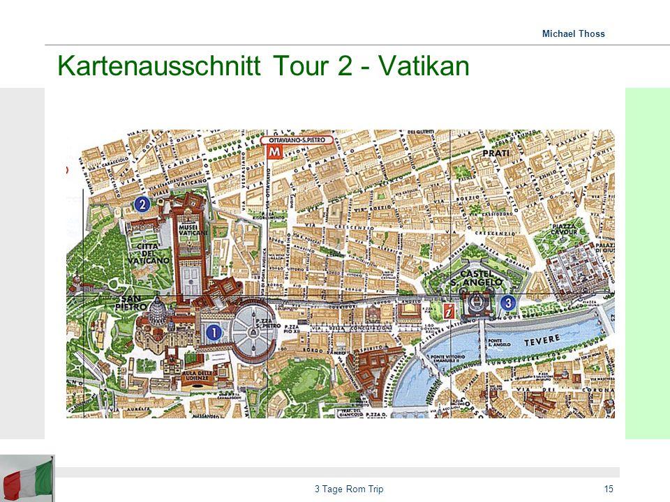 Kartenausschnitt Tour 2 - Vatikan