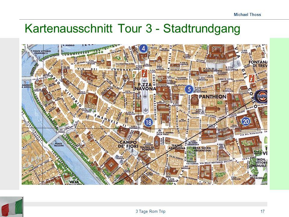 Kartenausschnitt Tour 3 - Stadtrundgang
