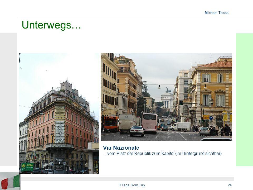 Unterwegs… Via Nazionale …vom Platz der Republik zum Kapitol (im Hintergrund sichtbar) 3 Tage Rom Trip.