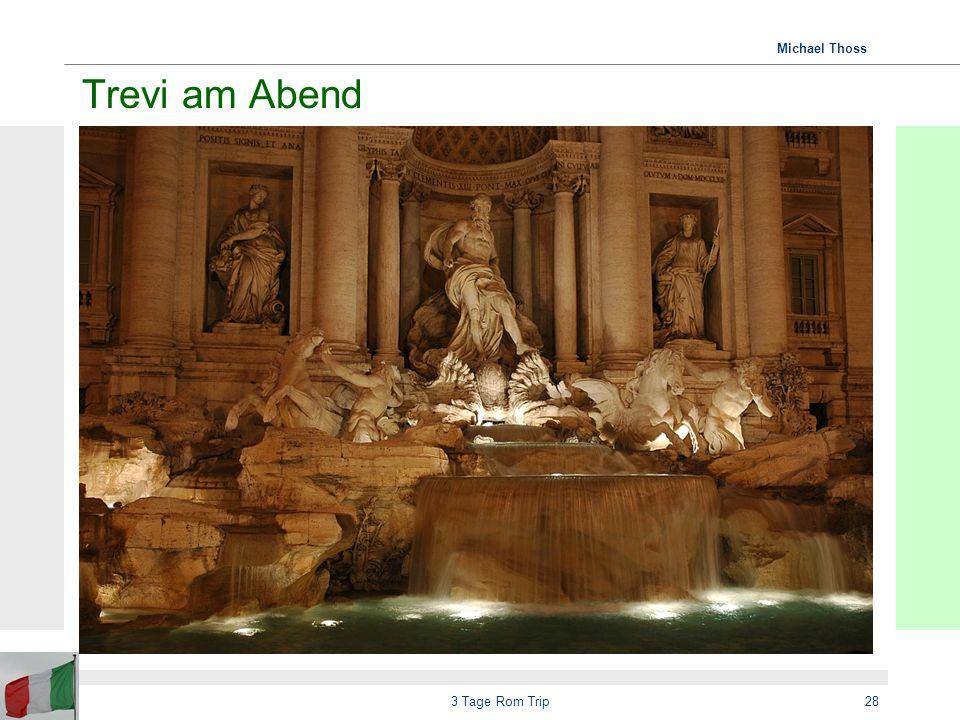 Trevi am Abend 3 Tage Rom Trip