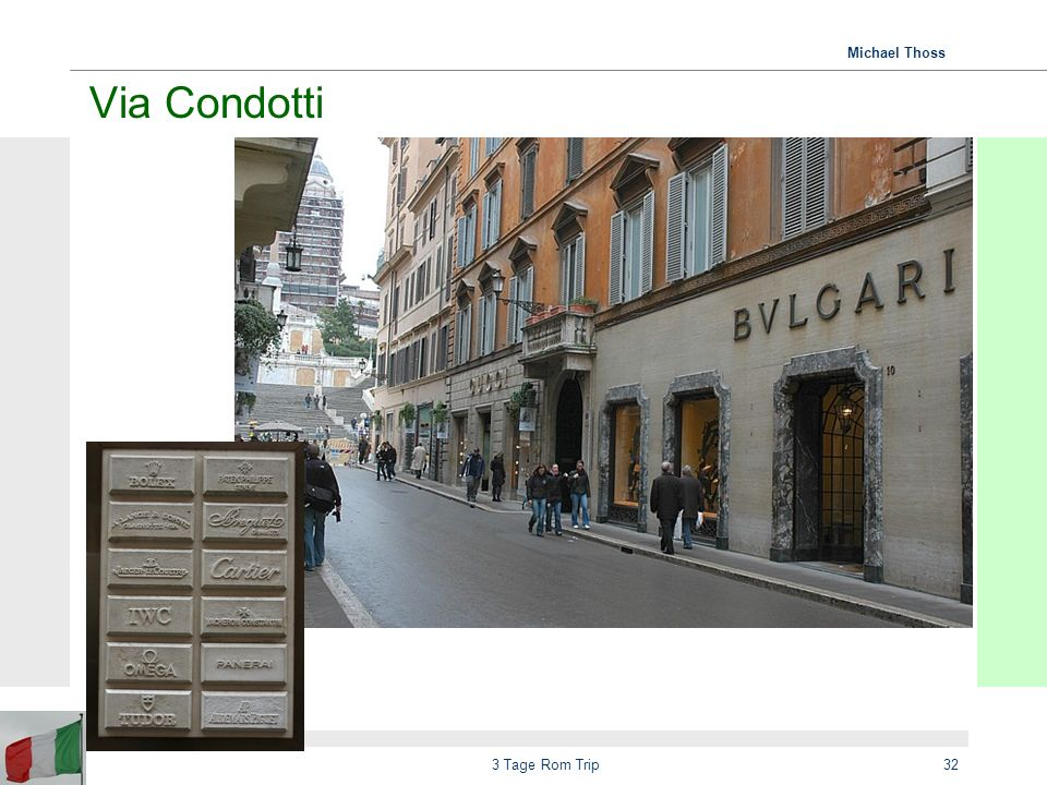Via Condotti 3 Tage Rom Trip
