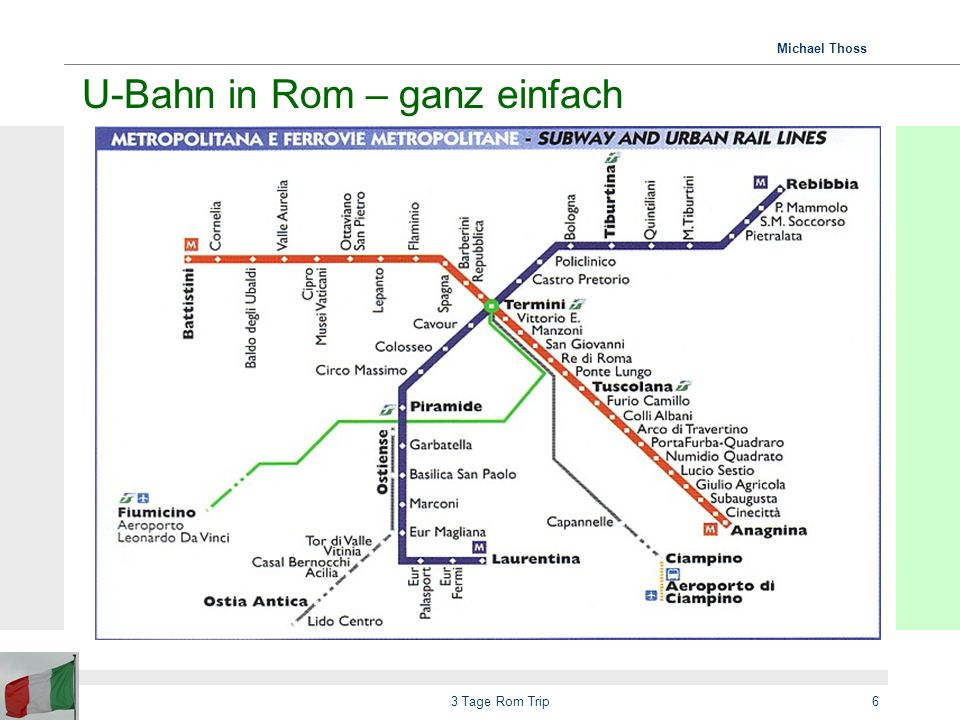 U-Bahn in Rom – ganz einfach