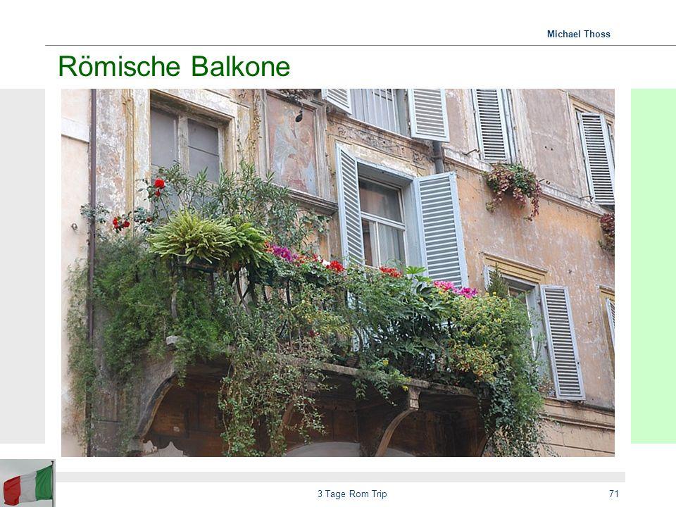 Römische Balkone 3 Tage Rom Trip