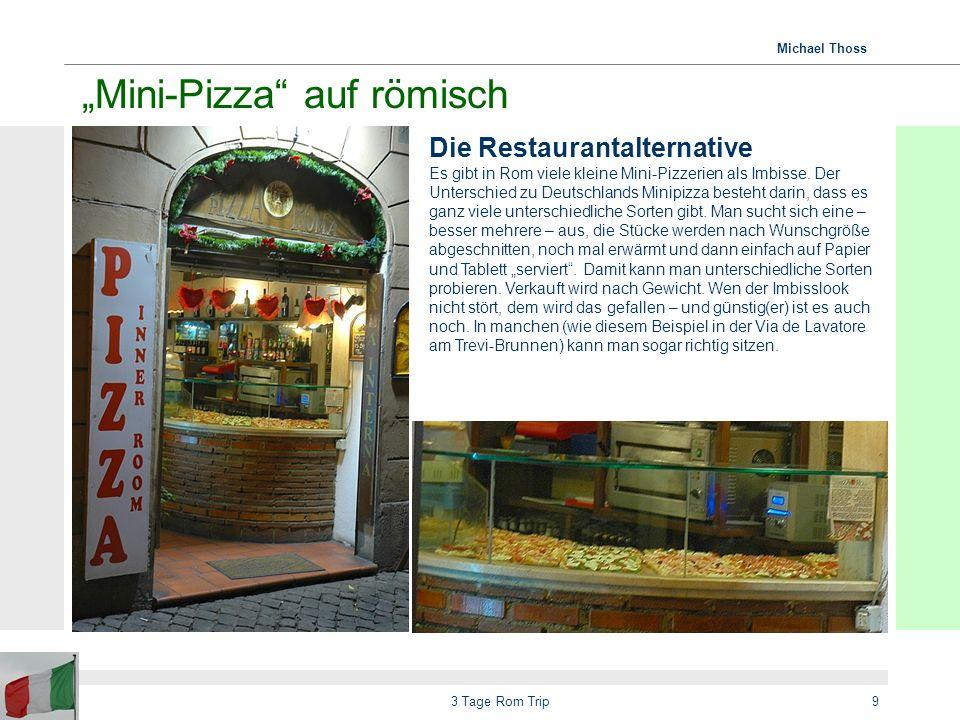 """""""Mini-Pizza auf römisch"""