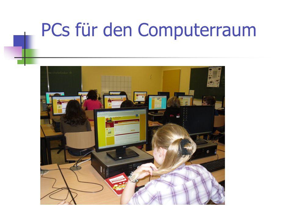 PCs für den Computerraum