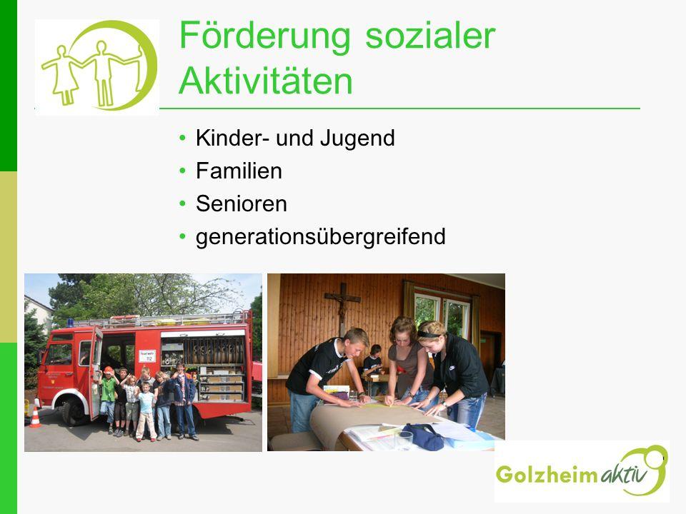 Förderung sozialer Aktivitäten