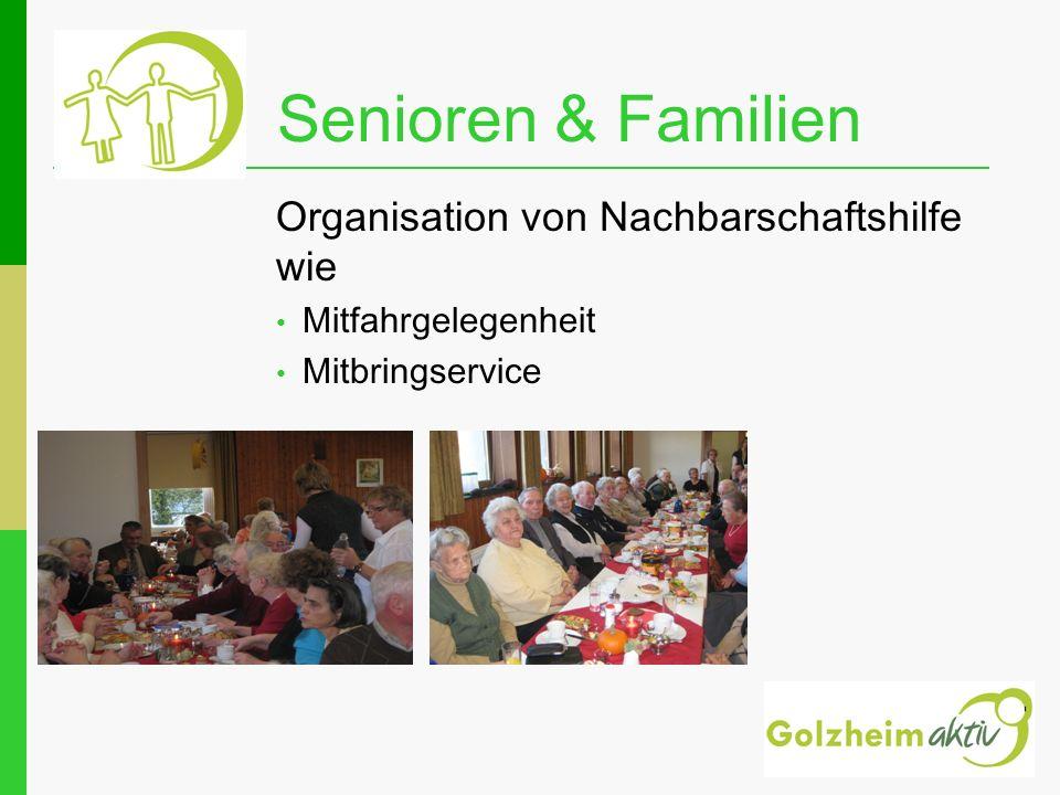 Senioren & Familien Organisation von Nachbarschaftshilfe wie
