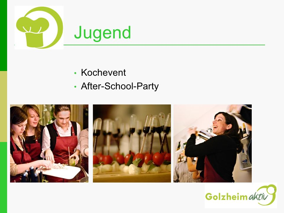 Jugend Kochevent After-School-Party