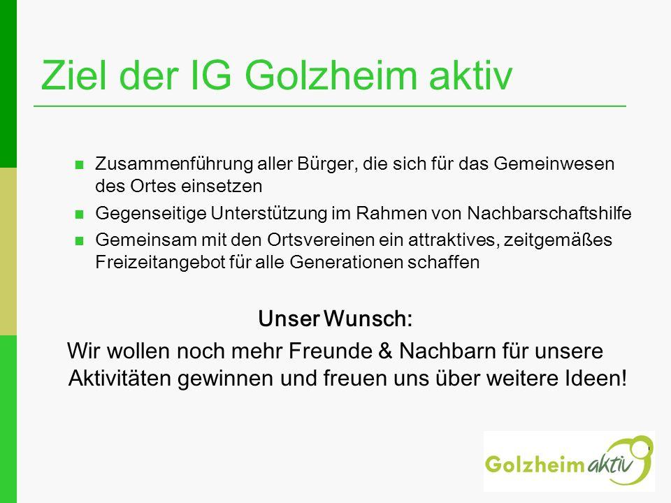Ziel der IG Golzheim aktiv