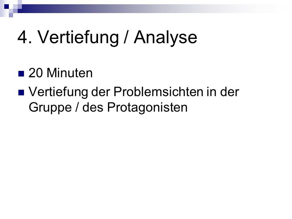 4. Vertiefung / Analyse 20 Minuten