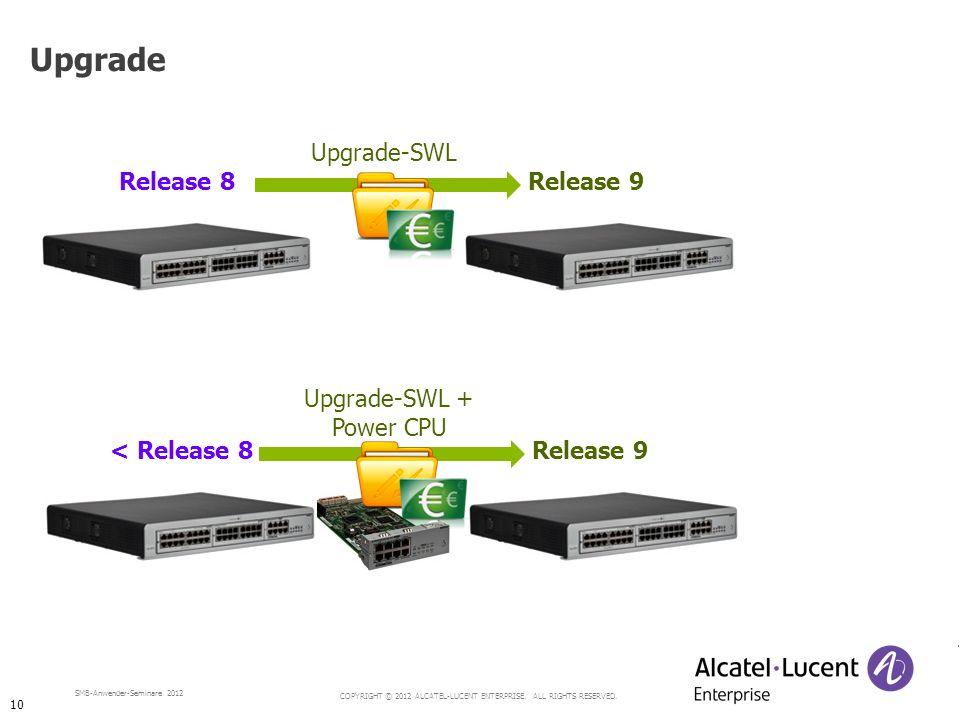Upgrade Upgrade-SWL Release 8 Release 9 Upgrade-SWL + Power CPU