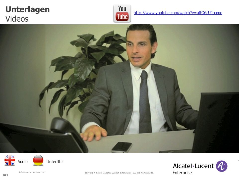 Unterlagen Videos http://www.youtube.com/watch v=aRQ6cUJnamo Audio