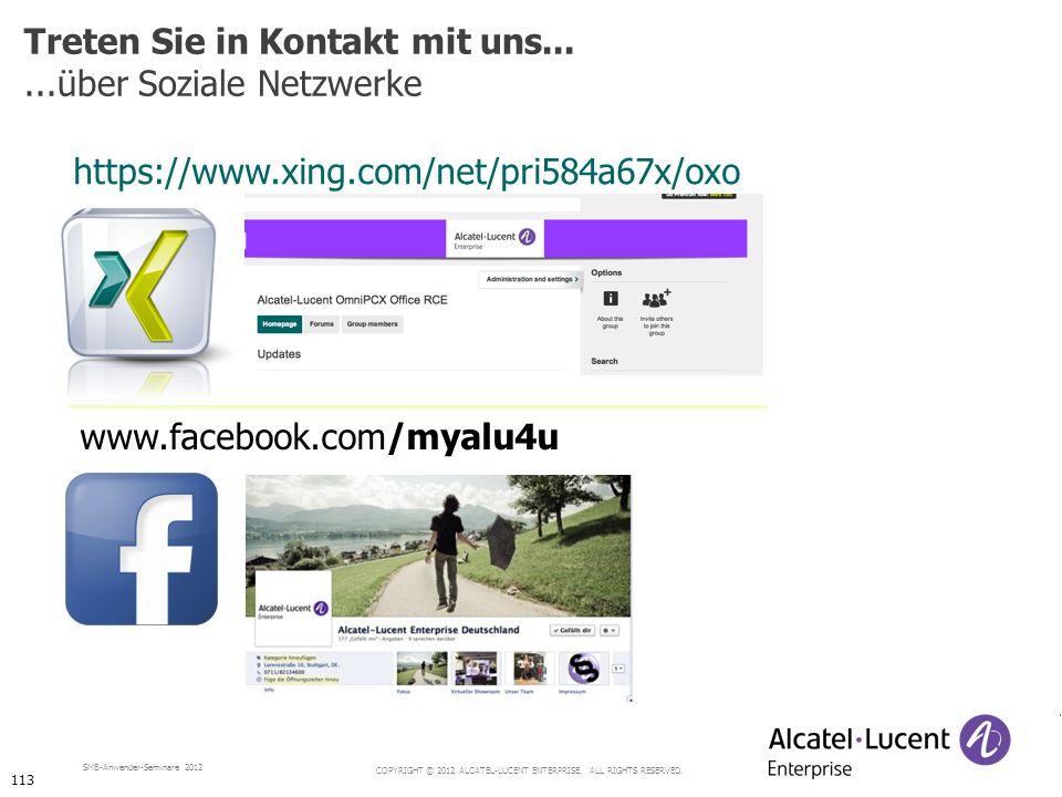 Treten Sie in Kontakt mit uns... ...über Soziale Netzwerke