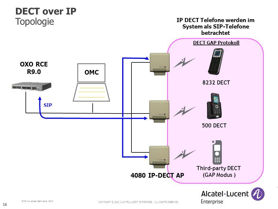 IP DECT Telefone werden im System als SIP-Telefone betrachtet