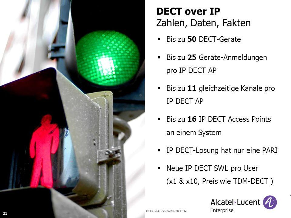DECT over IP Zahlen, Daten, Fakten Bis zu 50 DECT-Geräte